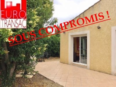 COMPROMISE SUB - Poussan Villa F4 bungalow with garage and 400 m² of land